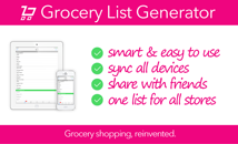 Why choose the Grocery List Generator app?